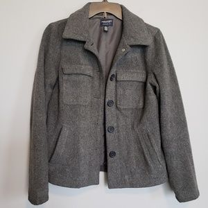 American Eagle Outfitters Gray 2 Pocket Peacoat
